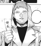 Hirako with resignation card