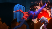 Touka defending from Shuu's attack