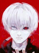 White haired Kaneki in ED2