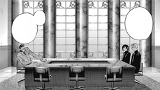 The meeting between Matsuri, Suzuya and Sasaki