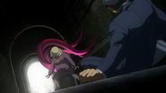 Kie Muramatsu attacks Amon