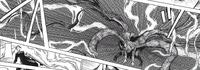 Touka's kagune producing lightning-like bolts