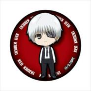 White-Haired Kaneki's can badge