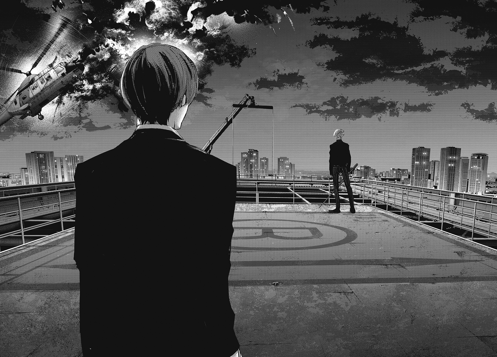 Datei:Shuu encounters Haise rooftop.png