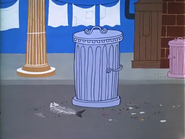 It's Greek to Me-ow - Garbage can