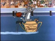 The Great Motorboat Race - Tom and Jerry waving at the people