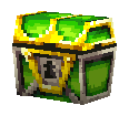 Green treasure chest