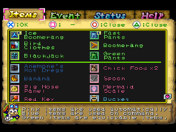 Item menu