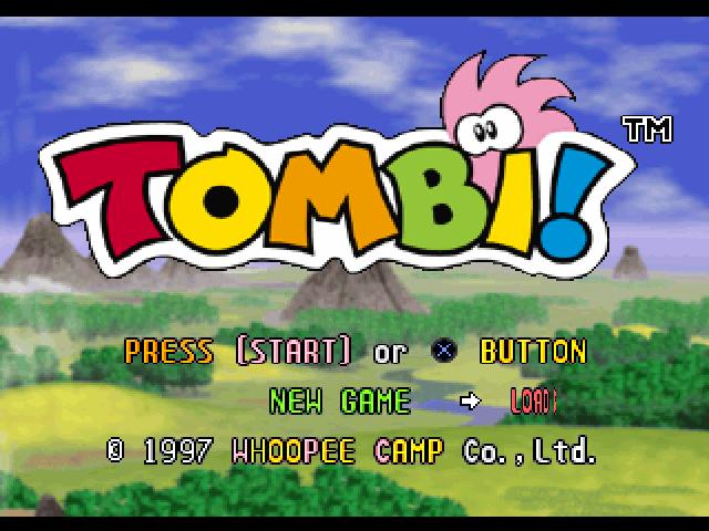 File:Tombi! Title Screen.png