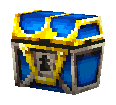 Blue treasure chest