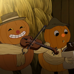 Fiddle and jug-player