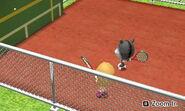 Two Miis playing Tennnis