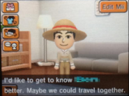 Mii asking to go on vacation