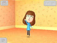 Mii jumps up in air after making friends