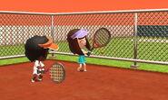 Miis playing tenis