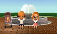 A couple fountain