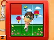 Slide puzzle hot air balloons