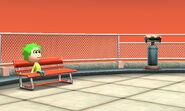 Mii sitting at tower