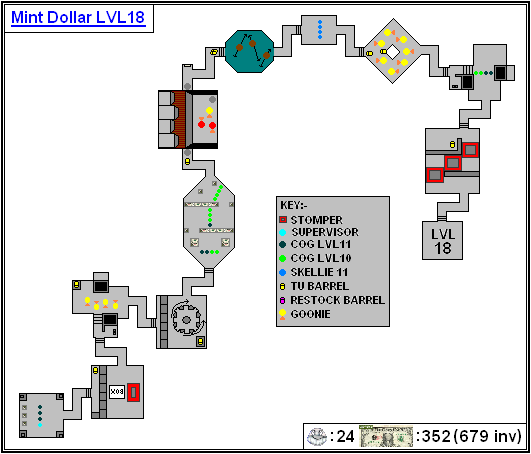 Mint Maps - Dollar - LVL18