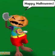 Pumkin Head During Halloween