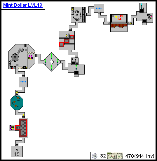 Mint Maps - Dollar - LVL19