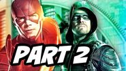The Flash Season 3 Episode 8 Arrow Supergirl Legends Crossover Part 2