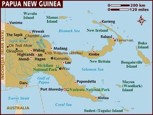 Papua New Guinea map 001