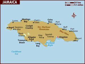 Jamaica map 001