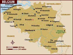 Belgium map 001