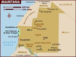 Mauritania map 001