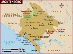 Montenegro map 001