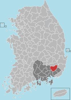 Miryang map 001