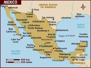 Mexico Map 001
