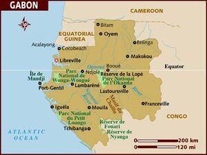 Gabon map 001