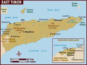 East Timor map 001