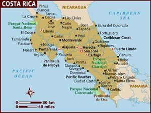 Costa Rica map 001