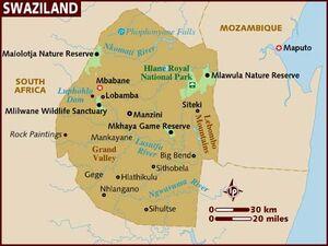 Swaziland map 001
