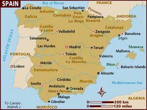 Spain map 001
