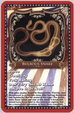 Bulbous Snake