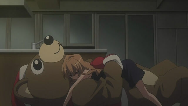 File:Taiga hugging Ryuuji in his bear costume.jpg