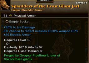 Spaulders Frost Giant