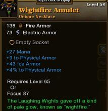 Wightfire Amulet