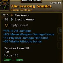 The Searing Amulet