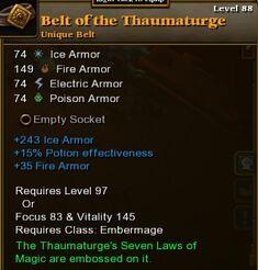Belt of the Thaumaturge