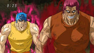 Toriko and Zebra standing back up