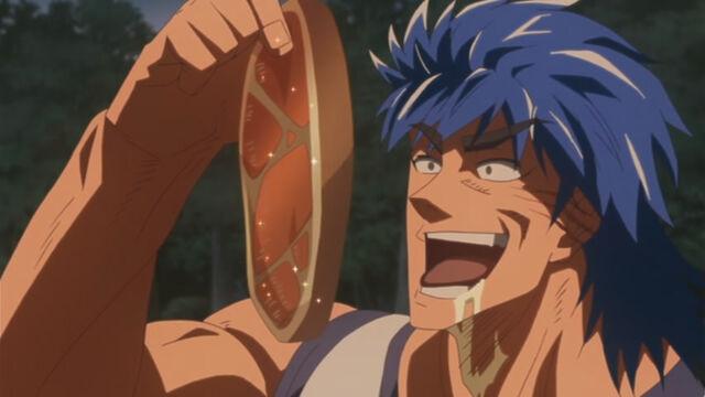 File:Toriko eating Galala Gator meat OVA.jpg
