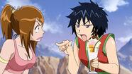 Rin not liking how Tina talks to Toriko