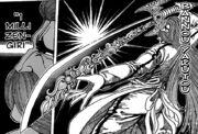 Yuda taking out his Bannou Yakutou