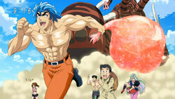 Toriko and the rest runing from Regal Mammoth anime