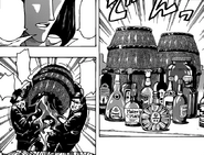 Rei orders to pour alcohol into Mansam